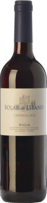 7,95 € Free Shipping | Red wine Castillo de Sajazarra Solar de Líbano Crianza D.O.Ca. Rioja The Rioja Spain Tempranillo, Grenache, Graciano Bottle 75 cl
