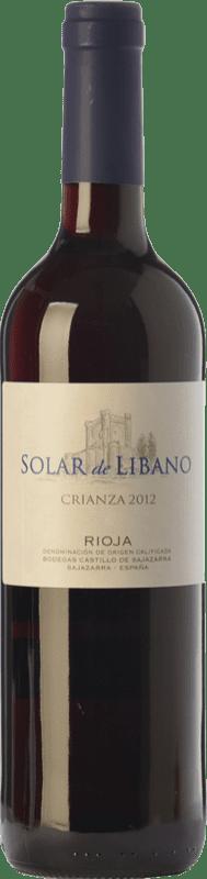 7,95 € Envío gratis | Vino tinto Castillo de Sajazarra Solar de Líbano Crianza D.O.Ca. Rioja La Rioja España Tempranillo, Garnacha, Graciano Botella 75 cl