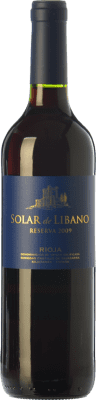 14,95 € Free Shipping | Red wine Castillo de Sajazarra Solar de Líbano Reserva D.O.Ca. Rioja The Rioja Spain Tempranillo, Grenache, Graciano Bottle 75 cl
