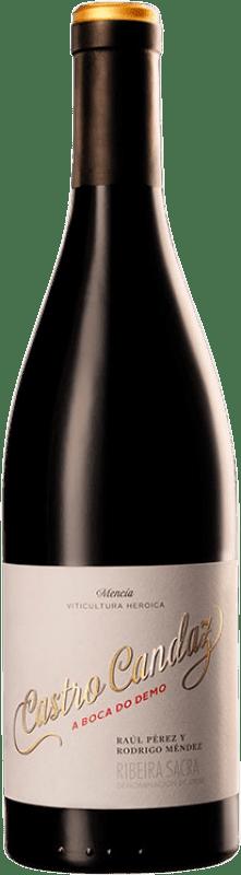 29,95 € Free Shipping | Red wine Castro Candaz A Boca do Demo Crianza D.O. Ribeira Sacra Galicia Spain Mencía Bottle 75 cl