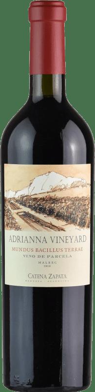 219,95 € Envoi gratuit   Vin rouge Catena Zapata Adrianna Vineyard Mundus Bacillus Terrae Crianza I.G. Mendoza Mendoza Argentine Malbec, Viognier Bouteille 75 cl