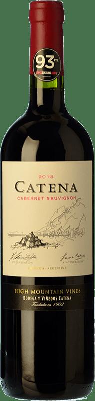 16,95 € Envío gratis | Vino tinto Catena Zapata Crianza I.G. Mendoza Mendoza Argentina Cabernet Sauvignon Botella 75 cl