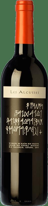 12,95 € Envío gratis | Vino tinto Roure Les Alcusses Joven D.O. Valencia Comunidad Valenciana España Tempranillo, Merlot, Syrah, Cabernet Sauvignon, Monastrell Botella 75 cl