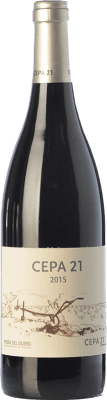 17,95 € Free Shipping | Red wine Cepa 21 Crianza D.O. Ribera del Duero Castilla y León Spain Tempranillo Bottle 75 cl | Thousands of wine lovers trust us to get the best price guarantee, free shipping always and hassle-free shopping and returns.