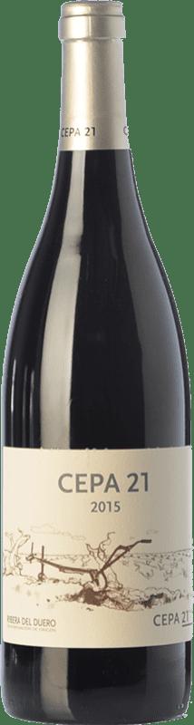 17,95 € Free Shipping | Red wine Cepa 21 Crianza D.O. Ribera del Duero Castilla y León Spain Tempranillo Bottle 75 cl