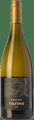 28,95 € Free Shipping | White wine Cesconi Olivar I.G.T. Vigneti delle Dolomiti Trentino Italy Chardonnay, Pinot Grey, Pinot White Bottle 75 cl