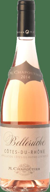 12,95 € Free Shipping | Rosé wine Chapoutier Belleruche Rosé I.G.P. Vin de Pays Rhône Rhône France Syrah, Grenache, Cinsault Bottle 75 cl