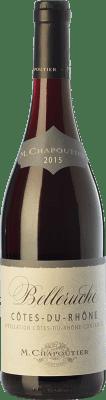 15,95 € Free Shipping | Red wine Chapoutier Belleruche Rouge Crianza A.O.C. Côtes du Rhône Rhône France Syrah, Grenache Bottle 75 cl