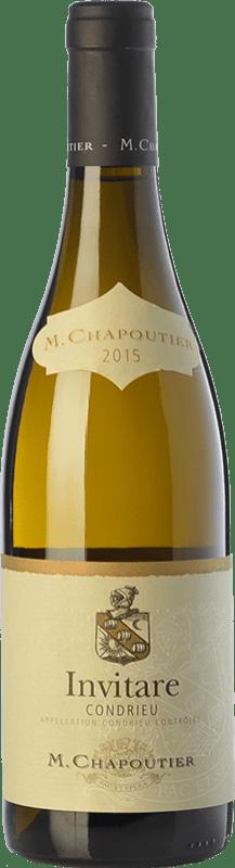 52,95 € Free Shipping | White wine Chapoutier Invitare Crianza A.O.C. Condrieu Rhône France Viognier Bottle 75 cl