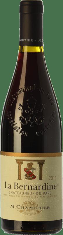 48,95 € Free Shipping | Red wine Chapoutier La Bernardine Rouge Crianza A.O.C. Châteauneuf-du-Pape Rhône France Syrah, Grenache, Mourvèdre Bottle 75 cl