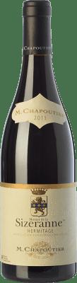 106,95 € Free Shipping | Red wine Chapoutier Monier de la Sizeranne Crianza A.O.C. Hermitage Rhône France Syrah Bottle 75 cl