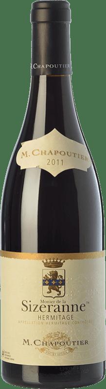 92,95 € Free Shipping | Red wine Chapoutier Monier de la Sizeranne Crianza A.O.C. Hermitage Rhône France Syrah Bottle 75 cl