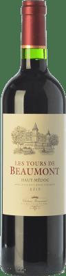 9,95 € Kostenloser Versand | Rotwein Château Beaumont Les Tours de Beaumont Crianza A.O.C. Haut-Médoc Bordeaux Frankreich Merlot, Cabernet Sauvignon, Cabernet Franc Flasche 75 cl