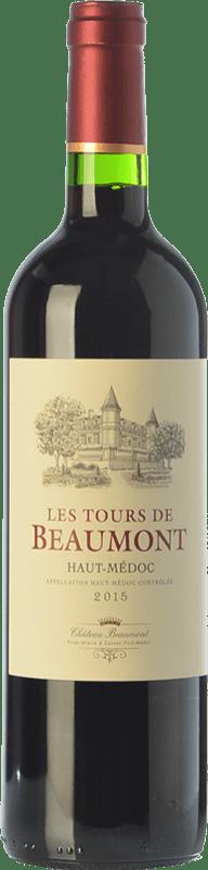 8,95 € Free Shipping | Red wine Château Beaumont Les Tours de Beaumont Crianza A.O.C. Haut-Médoc Bordeaux France Merlot, Cabernet Sauvignon, Cabernet Franc Bottle 75 cl
