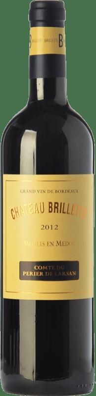 22,95 € Free Shipping | Red wine Château Brillette A.O.C. Moulis-en-Médoc Bordeaux France Merlot, Cabernet Sauvignon, Cabernet Franc, Petit Verdot Bottle 75 cl