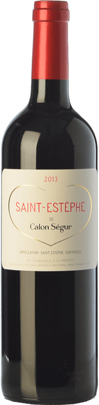 28,95 € Free Shipping | Red wine Château Calon Ségur Crianza A.O.C. Saint-Estèphe Bordeaux France Merlot, Cabernet Sauvignon, Cabernet Franc, Petit Verdot Bottle 75 cl