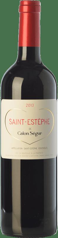 28,95 € Envío gratis | Vino tinto Château Calon Ségur Crianza A.O.C. Saint-Estèphe Burdeos Francia Merlot, Cabernet Sauvignon, Cabernet Franc, Petit Verdot Botella 75 cl