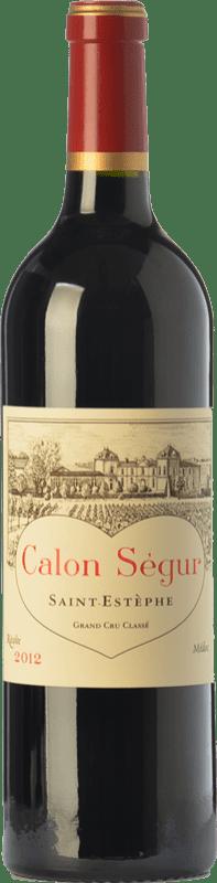136,95 € Envoi gratuit | Vin rouge Château Calon Ségur Crianza A.O.C. Saint-Estèphe Bordeaux France Merlot, Cabernet Sauvignon, Petit Verdot Bouteille 75 cl