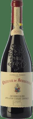 129,95 € Free Shipping | Red wine Château Beaucastel Rouge Crianza A.O.C. Châteauneuf-du-Pape Rhône France Syrah, Grenache, Mourvèdre, Cinsault, Counoise Bottle 75 cl