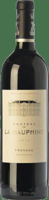 22,95 € Envío gratis | Vino tinto Château de la Dauphine Crianza A.O.C. Fronsac Burdeos Francia Merlot, Cabernet Franc Botella 75 cl