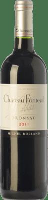 28,95 € Free Shipping | Red wine Château Fontenil Crianza A.O.C. Fronsac Bordeaux France Merlot, Cabernet Sauvignon Bottle 75 cl