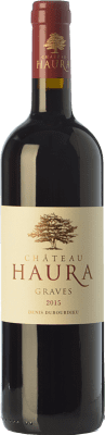 16,95 € Free Shipping | Red wine Château Haura Crianza A.O.C. Graves Bordeaux France Merlot, Cabernet Sauvignon Bottle 75 cl