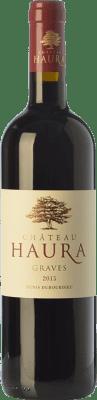 13,95 € Envoi gratuit | Vin rouge Château Haura Crianza A.O.C. Graves Bordeaux France Merlot, Cabernet Sauvignon Bouteille 75 cl
