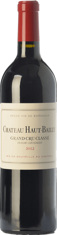 134,95 € Free Shipping | Red wine Château Haut-Bailly Crianza A.O.C. Pessac-Léognan Bordeaux France Merlot, Cabernet Sauvignon, Cabernet Franc Bottle 75 cl