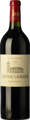 63,95 € Free Shipping | Red wine Château Lagrange Crianza A.O.C. Saint-Julien Bordeaux France Merlot, Cabernet Sauvignon, Petit Verdot Bottle 75 cl