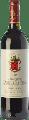 58,95 € Envoi gratuit | Vin rouge Château Langoa Barton Crianza A.O.C. Saint-Julien Bordeaux France Merlot, Cabernet Sauvignon, Cabernet Franc Bouteille 75 cl