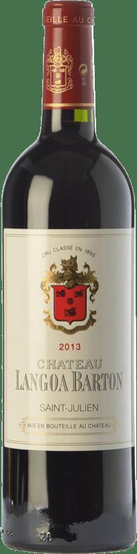 61,95 € Free Shipping | Red wine Château Langoa Barton Crianza A.O.C. Saint-Julien Bordeaux France Merlot, Cabernet Sauvignon, Cabernet Franc Bottle 75 cl