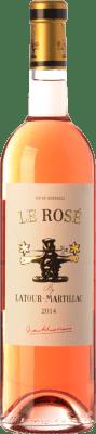 8,95 € Envío gratis | Vino rosado Château Latour-Martillac Le Rosé A.O.C. Bordeaux Rosé Burdeos Francia Cabernet Sauvignon Botella 75 cl