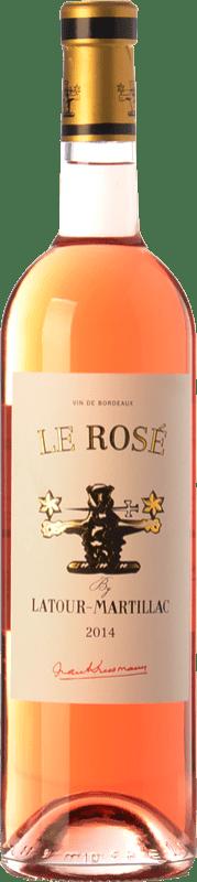 8,95 € Free Shipping | Rosé wine Château Latour-Martillac Le Rosé A.O.C. Bordeaux Rosé Bordeaux France Cabernet Sauvignon Bottle 75 cl