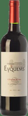 8,95 € Free Shipping | Red wine Château Les Eyquems Crianza A.O.C. Côtes de Bourg Bordeaux France Merlot Bottle 75 cl