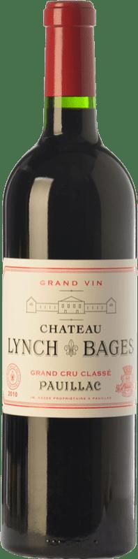 156,95 € Free Shipping | Red wine Château Lynch Bages Crianza A.O.C. Pauillac Bordeaux France Merlot, Cabernet Sauvignon, Cabernet Franc, Petit Verdot Bottle 75 cl