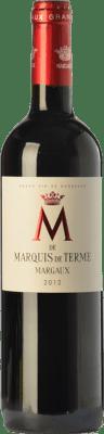 33,95 € Free Shipping | Red wine Château Marquis de Terme M Crianza A.O.C. Margaux Bordeaux France Merlot, Cabernet Sauvignon, Petit Verdot Bottle 75 cl