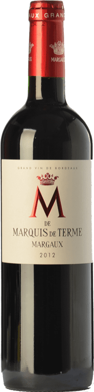 32,95 € Free Shipping | Red wine Château Marquis de Terme M Crianza A.O.C. Margaux Bordeaux France Merlot, Cabernet Sauvignon, Petit Verdot Bottle 75 cl