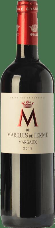 29,95 € Envío gratis | Vino tinto Château Marquis de Terme M Crianza A.O.C. Margaux Burdeos Francia Merlot, Cabernet Sauvignon, Petit Verdot Botella 75 cl