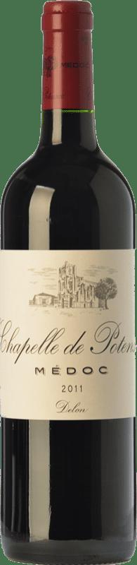 17,95 € Free Shipping | Red wine Château Potensac Chapelle Crianza A.O.C. Médoc Bordeaux France Merlot, Cabernet Sauvignon, Cabernet Franc, Petit Verdot Bottle 75 cl