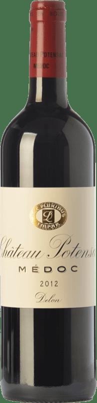 37,95 € Free Shipping | Red wine Château Potensac Crianza A.O.C. Médoc Bordeaux France Merlot, Cabernet Sauvignon, Cabernet Franc, Petit Verdot Bottle 75 cl