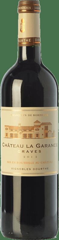8,95 € Free Shipping | Red wine Château Rahoul Château La Garance Joven A.O.C. Graves Bordeaux France Merlot, Cabernet Sauvignon, Petit Verdot Bottle 75 cl