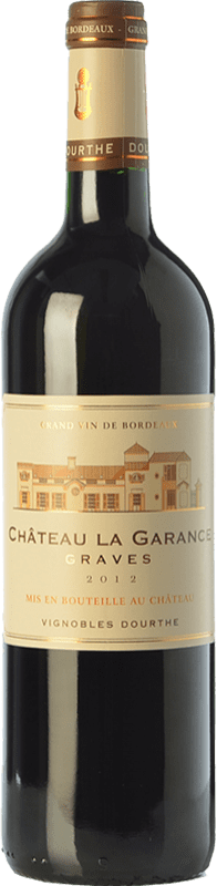 8,95 € Envío gratis | Vino tinto Château Rahoul Château La Garance Joven A.O.C. Graves Burdeos Francia Merlot, Cabernet Sauvignon, Petit Verdot Botella 75 cl