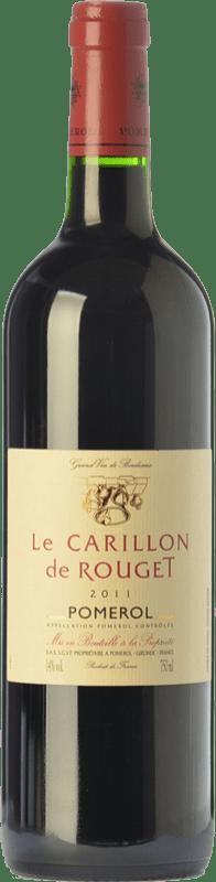 29,95 € Free Shipping | Red wine Château Rouget Le Carillon Crianza A.O.C. Pomerol Bordeaux France Merlot, Cabernet Franc Bottle 75 cl