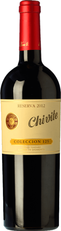 23,95 € Envío gratis | Vino tinto Chivite Colección 125 Reserva D.O. Navarra Navarra España Tempranillo Botella 75 cl