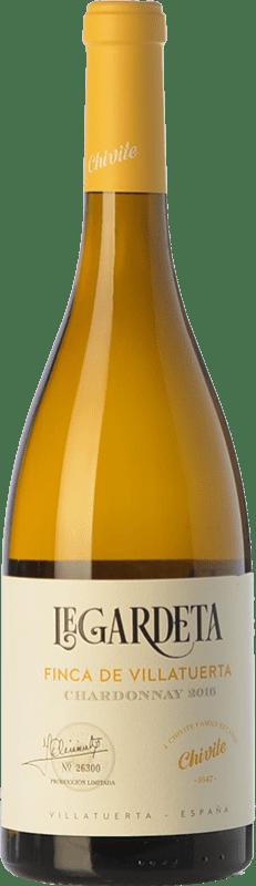 13,95 € Free Shipping | White wine Chivite Legardeta Finca de Villatuerta Crianza D.O. Navarra Navarre Spain Chardonnay Bottle 75 cl