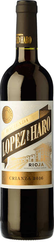 7,95 € Free Shipping | Red wine Classica Hacienda López de Haro Crianza D.O.Ca. Rioja The Rioja Spain Tempranillo, Grenache, Graciano Bottle 75 cl