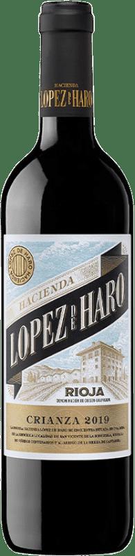 7,95 € Free Shipping | Red wine Classica Hacienda López de Haro Crianza D.O.Ca. Rioja The Rioja Spain Tempranillo, Grenache, Graciano Bottle 75 cl