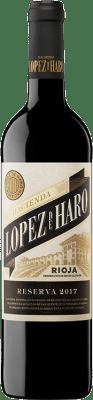 9,95 € Envío gratis | Vino tinto Classica Hacienda López de Haro Reserva D.O.Ca. Rioja La Rioja España Tempranillo, Graciano Botella 75 cl
