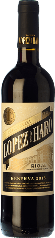12,95 € Free Shipping | Red wine Classica Hacienda López de Haro Reserva D.O.Ca. Rioja The Rioja Spain Tempranillo, Graciano Bottle 75 cl