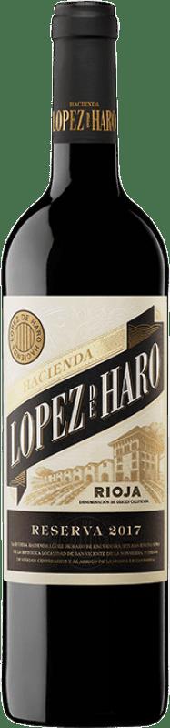 9,95 € Envoi gratuit | Vin rouge Classica Hacienda López de Haro Reserva D.O.Ca. Rioja La Rioja Espagne Tempranillo, Graciano Bouteille 75 cl